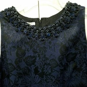 Maggy London Shift Brocade Sleeveless Dress 12